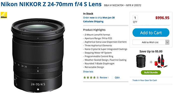 """Nikon 24-70mm S lens review by Ken Rockwell: """"best lens you"""